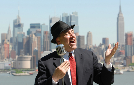 Eric DeLauro singer of Frank Sinatra New York Rat Pack Tribute crooner music swing Winner of Sinatra IDOL contest for best new Frank Sinatra Tribute singer