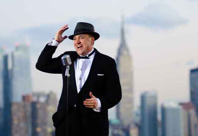 tribute salutes singer DELAURO  Frank Sinatra Singer IDOL Winner Crooner Tribute New York NY NYC Manhattan Hoboken NJ Rat Pack Dean Martin CT PA Show Come Fly Away